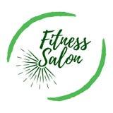 Ярлык салона фитнеса Стиль Eco и жизнь здоровья Здорово бесплатная иллюстрация
