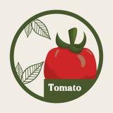 Ярлык томата vegetable свежий здоровый бесплатная иллюстрация