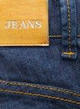 ярлык джинсыов Стоковые Изображения