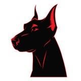Ярлык doberman собаки бесплатная иллюстрация
