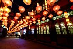 Ярмарка виска Нового Года 2016 китайцев и фестиваль фонарика в Чэнду Стоковые Изображения