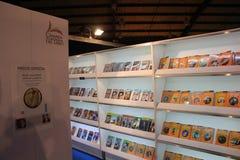 Ярмарка в Corferias Международная ярмарка книг, также известная как ` w internacional del libro Feria ` стоковые изображения rf