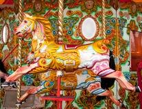 ярмарка идет веселая езда круглая Стоковое Изображение