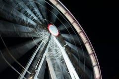 Ярмарка потехи к ноча Стоковое фото RF