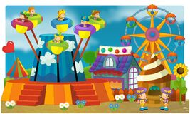 Ярмарка - спортивная площадка для малышей Стоковое Фото