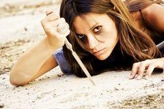 яростная женщина стоковое изображение rf