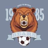Яростная концепция логотипа спорта медведя бесплатная иллюстрация
