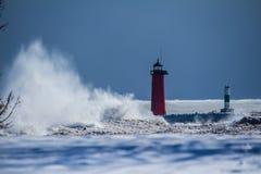 Ярость Lake Michigan Стоковое Фото
