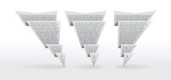 3 ярлыка origami Стоковая Фотография