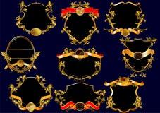 Ярлыки года сбора винограда. (с орнаментом) (вектором) Стоковое фото RF
