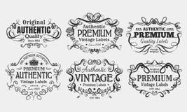 Ярлыки года сбора винограда иллюстрация вектора