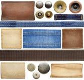 Ярлыки джинсов Стоковое Изображение