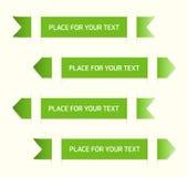 Ярлыки зеленого цвета Стоковая Фотография
