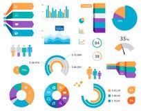 Ярлыки и значки диаграммы Infographics вектора Стоковое Изображение