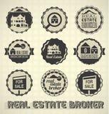 Ярлыки и значки маклера по операциям с недвижимостью бесплатная иллюстрация