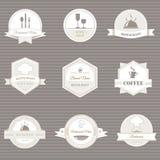 ярлыки кофе и ресторана иллюстрация штока