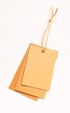 Ярлыки продажи ретро картона стиля винтажные Стоковая Фотография