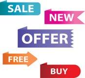 Ярлыки продажи иллюстрация вектора