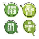 Ярлыки продаж весны Стоковые Фотографии RF