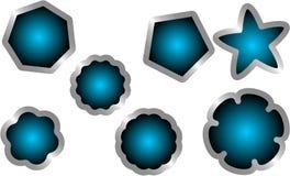 Ярлыки серебра Стоковое Фото