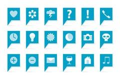 Ярлыки с символами Стоковые Изображения RF