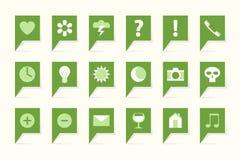 Ярлыки с символами Стоковое Изображение RF