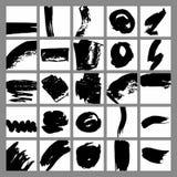 Ярлыки с ходами щетки для продажи, печатающ вектор комплекта сердец шаржа приполюсный Стоковые Фотографии RF