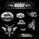 Ярлыки grunge мотоцикла Стоковая Фотография