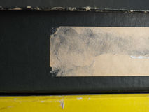 Ярлык бирки на коробке Стоковые Изображения RF