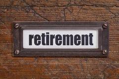 Ярлык выхода на пенсию Стоковые Изображения RF