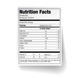 Ярлык еды фактов питания Стоковые Изображения RF