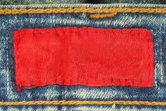 Ярлык джинсовой ткани Eans Стоковые Изображения RF