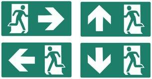 Ярлык зеленого цвета аварийного выхода Стоковое Фото