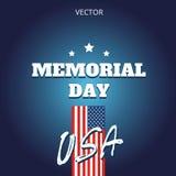 Ярлык знамени логотипа иллюстрации вектора Дня памяти погибших в войнах Стоковое Изображение RF