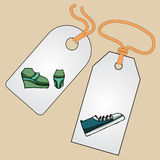 Ярлык, значок, ценник с изображением модных вещей Стоковая Фотография RF
