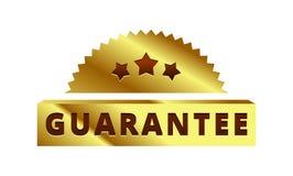 Ярлык золотой гарантии, значок, символ, метка Стоковое фото RF