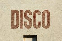 Ярлык диско на стене Стоковое Изображение