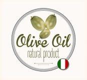 Ярлык Италия оливкового масла Стоковые Изображения