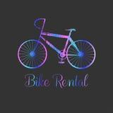 Ярлык и логотип вектора велосипеда иллюстрация штока