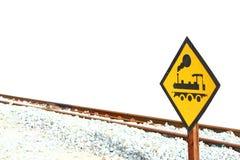 Ярлык и след (железнодорожный транспорт) Стоковое фото RF