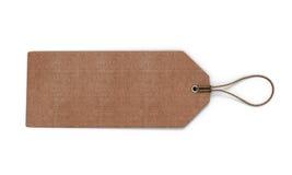 Ярлык картона на белой предпосылке Пустые животики картона Стоковое фото RF