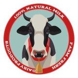 Ярлык коровы, красный стиль Стоковые Изображения RF