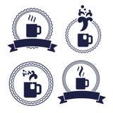Ярлык кофейной чашки чая офиса Стоковые Изображения RF
