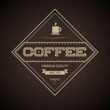 Ярлык кофе для ресторана, кафа, адвокатского сословия, coffeehous Стоковое Изображение