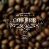 Ярлык кофе винтажный Стоковая Фотография RF