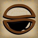Ярлык кофе золота Иллюстрация штока
