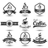 Ярлык кофе Стоковые Изображения