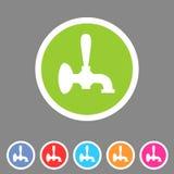 Ярлык логотипа символа знака сети значка крана пива плоский Стоковая Фотография RF