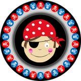 Ярлык пирата круглый Стоковое Изображение