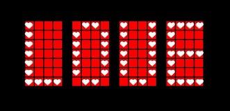 Ярлык предпосылки влюбленности с красными сердцами бесплатная иллюстрация